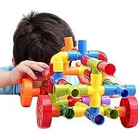 [ドリーマー] おもちゃ パイプ 72ピース 組み立て 車 カー ブロック 積み木 プラスチック  立体パズル 誕生日お祝い プレゼント ギフト チューブ 子供 赤ちゃん