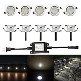 ガーデンライト FVTLED 埋め込み式ライト スポットライト 地中埋込型ライト 12V 0.6W IP67防水 LED 照明 省電力 ガーデニング/庭/花壇/坪/公園に最適 CE RoHS認証 (クールホワイト)