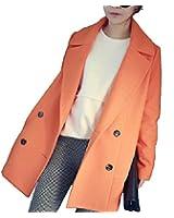 hot レディース 冬 秋 アウター ロング 丈 ストレート ウール 緩い ゆったり コート オリジナルカチューシャ付 型番box017