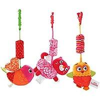 ベビーカーベルおもちゃぬいぐるみガラガラペンダントベビーベッドのおもちゃハンギング(3セット)
