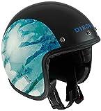 DIESEL ジェットヘルメット OLD-JACK MULTI, カラー :OJ 1 ブラック ブルー, サイズ:S (55-56 cm)