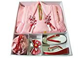 七五三 着物 3歳 正絹 被布・着物7点セット 日本製 絞り花柄 mi411