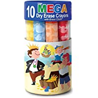 10ピースThe Piggy Story Washable Mega Dry EraseクレヨンSet for Kids ブルー 5627