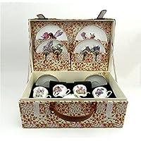 Reutter Porcelain Flower Fairies Teaセットin布ケース – 大きいサイズ
