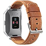 bayite Leather Bands for Fitbit Ionic Genuine Leather Replacement Accessories Straps for Fitbit Ionic Smart Fitness Watch Women Men