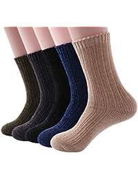 WEUE ソフト厚い暖かいファッション高品質ファジー长袜 マイクロファイバーソックス、男性の冬の快適さ、豪華な、柔らかい寝る靴下