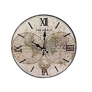パール金属 卓上 ガラス 時計 置時計 掛け時計 兼用 ROUND 17cm 13S1709-1 N-8185