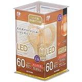 アイリスオーヤマ LED電球 フィラメント 口金直径26mm 60W形相当 キャンドル色 全配光タイプ レトロ風琥珀調ガラス製 LDA7C-G-FK