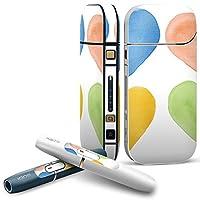 IQOS 2.4 plus 専用スキンシール COMPLETE アイコス 全面セット サイド ボタン デコ ラブリー クール ハート パステル 模様 007656