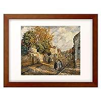 アンリ・ルバスク Henri Lebasque 1865-1937 「Strassen-Szene in Lagny.」 額装アート作品