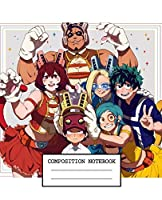 Composition Notebook: My Hero Academia Soft Glossy Cover Wide Ruled Lined Pages Book 7.5 x 9.25 Inches 110 Pages