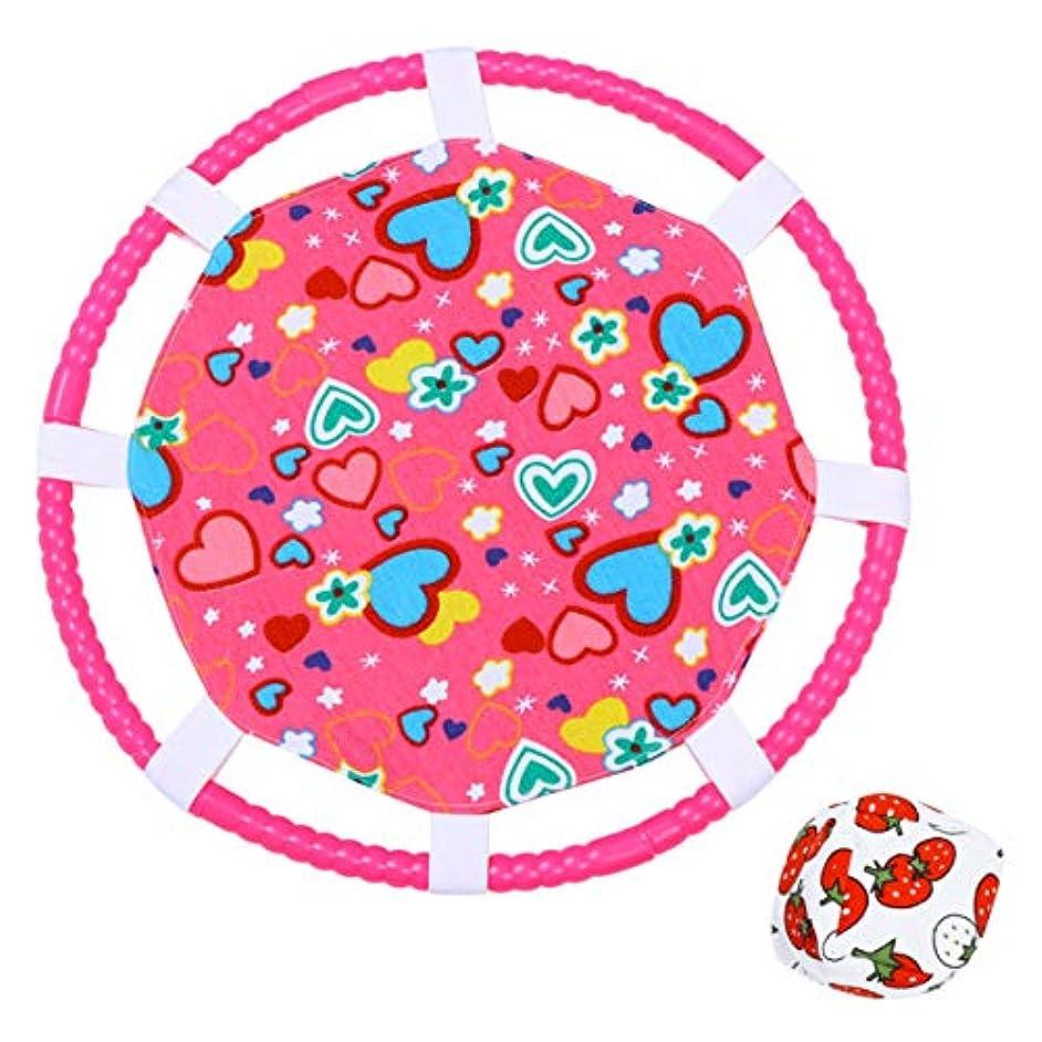 トレッド支払うリークHakka 1セットサンドバッグボールスローキャッチボールおもちゃポッピングトレイおかしいバウンシングサンドバッグボール子供用アウトドアプレイング(ピンク)