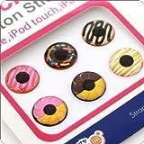 Touch me! ホームボタン タッチボタン ステッカー シール for iPhone5 iPhone4s iPod iPad iPhone 対応 (ドーナツ)