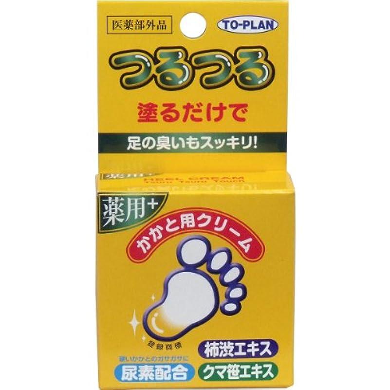 分フォルダほうきトプラン つるつる 薬用 かかと用クリーム 30g入×20個セット