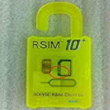 PCATEC 最新 R-SIM10+ iPhone対応 Unlock Nano-SIMロック解除アダプタ