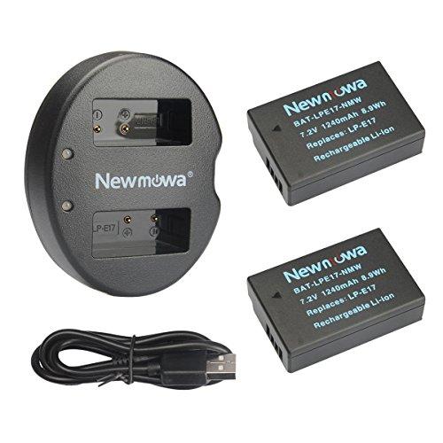 Newmowa LP-E17 互換バッテリー 2個+充電器 ...