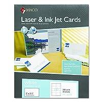 Maco ml8550Microperforatedレーザー/インクジェットビジネスカード、2x 31/ 2、ホワイト(ボックスof 250)