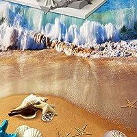 山笑の美 フロアステッカー壁画壁紙自己接着3D絵画現代カスタムPvc防水 ヨーロッパ波地獄の写真リビングルームビニール-400X280CM