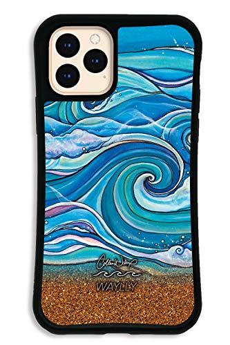 iPhone11 Pro ケース どこでもくっつくケース WAYLLY(ウェイリー) アイフォン11 Proケース 着せ替え 耐衝撃 米軍MIL規格 [WAYLLY×Colleen Malia Wilcox ウェーブ] セット MK