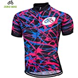 ZEROBIKE® Men's Short Cycling Jersey Breathable Quick Dry Sportwear Bicycle Clothing
