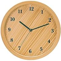 いけだ 掛け時計 サークルクォーツ木目調 63065