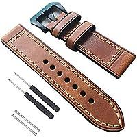 RUIXIN Genuine Leather Watch Strap for Garmin Fenix 5X, Watch Band Replacement Wrist Bracelet for Garmin Fenix3 Fenix 3 HR/D2 Charlie/Descent MK1/Quatix 3