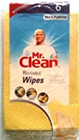 "MR. CLEAN Multi-Purpose MACHINE WASHABLE Household Cleaning REUSABLE Wipes (Pack of 6) 11"" Wide x 21"" Long by Mr.Clean"
