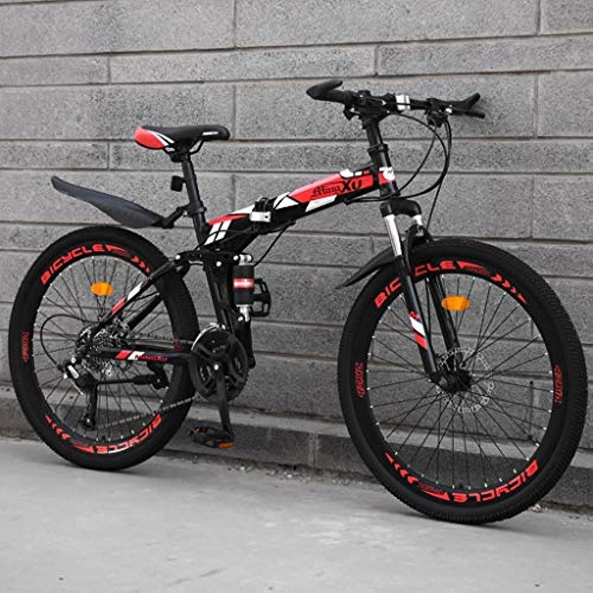 テレビ赤人物ロードバイク 自転車,クロスバイク 自転車 21段変速,マウンテン24/26インチ、高炭素鋼のハードテイルマウンテンバイク、国ギアシフト自転車、21速自転車のフロントサスペンションMTBマウンテン自転車 (Color : B-24in, Size : 21 speed)