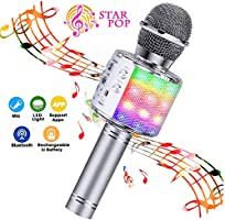 BlueFire 4 in 1 Bluetooth Handheld Wireless Karaoke Microphone Portable Speaker Machine Home KTV Player with Record...