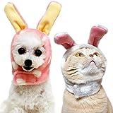 IDOG&ICAT オリジナル 犬 服 変身かぶりものスヌード モフモフうさぎ ピンク S 犬 かぶりもの