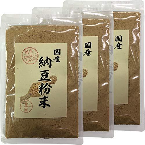 【国産100%】納豆粉末 50g×3袋セット 北海道産大豆使用