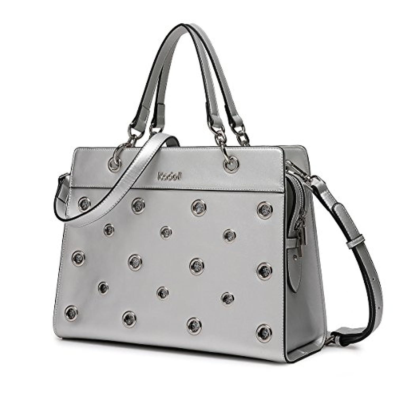 Kadell 女性のためのリングダイヤモンドデザインハンドバッグPUレザートートトップハンドルバッグ