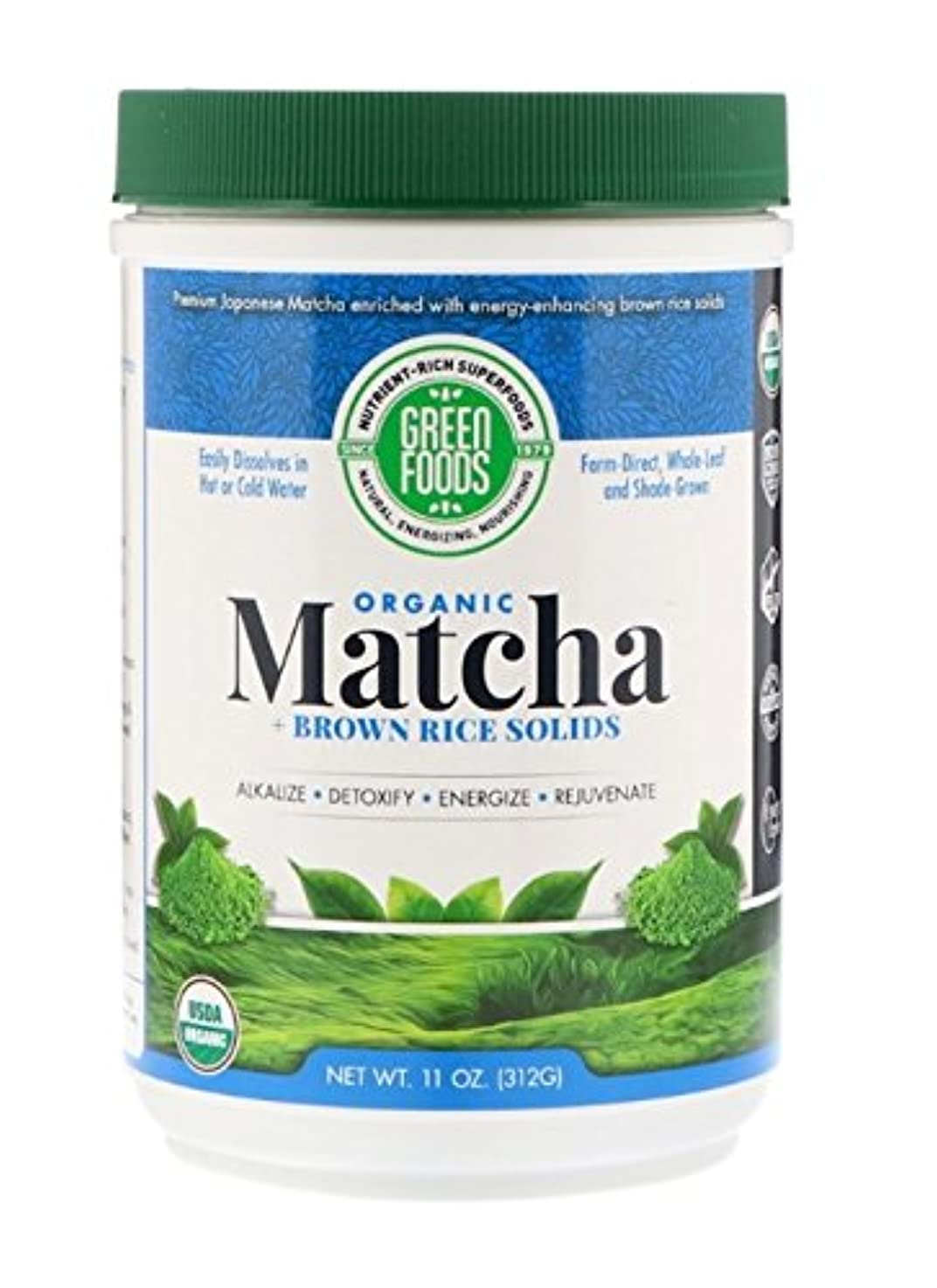 禁じるどちらも移行海外直送品Matcha Green Tea, 11 oz by Green Foods Corporation
