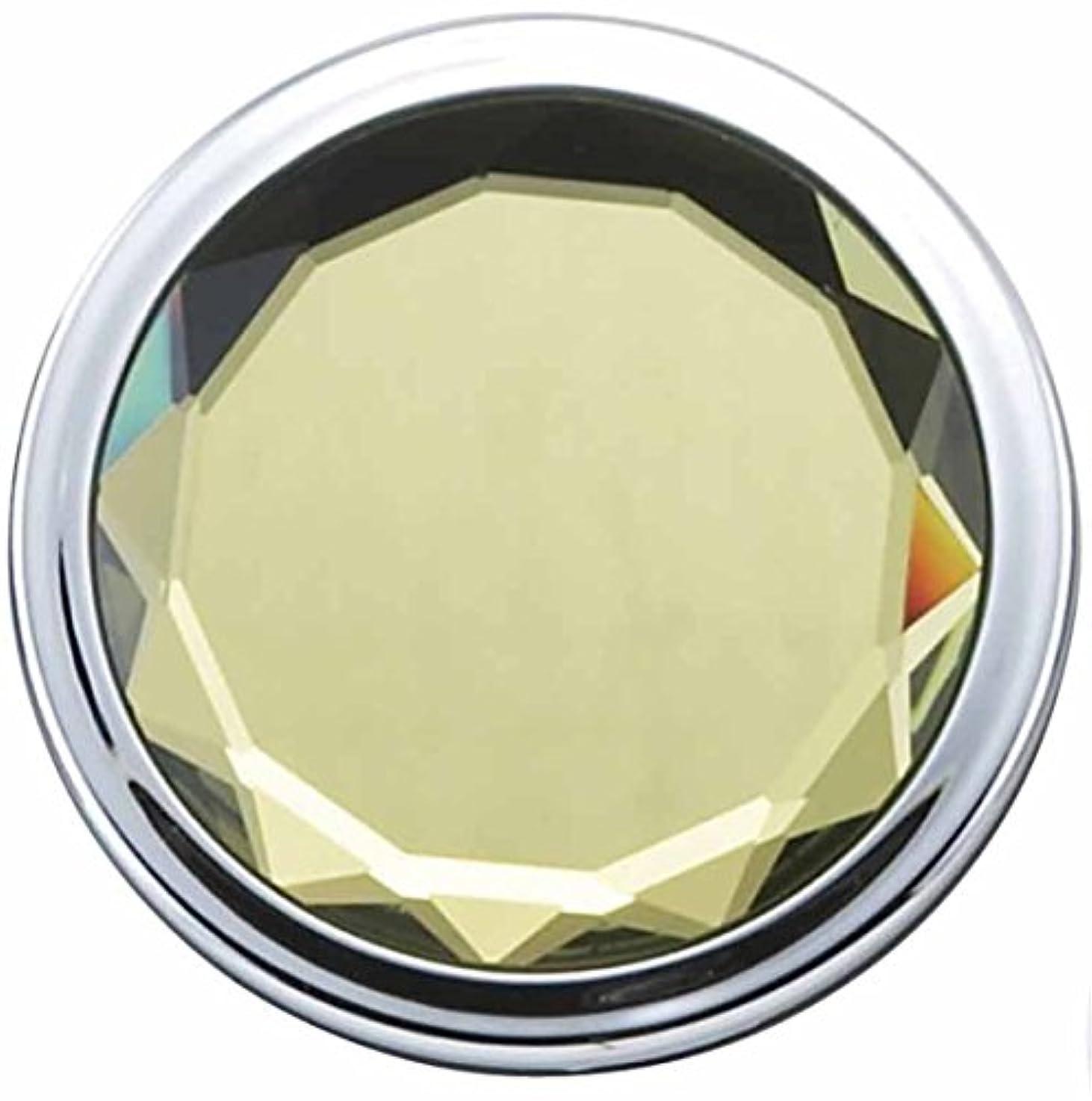 祝福にんじん該当するメトリックス JEWEL color コンパクト ミラー イエロー 等倍 & 2倍 拡大鏡 es