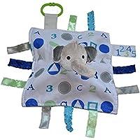 ABCブルー象Sensory教育Lovey Baby Jack Blanket