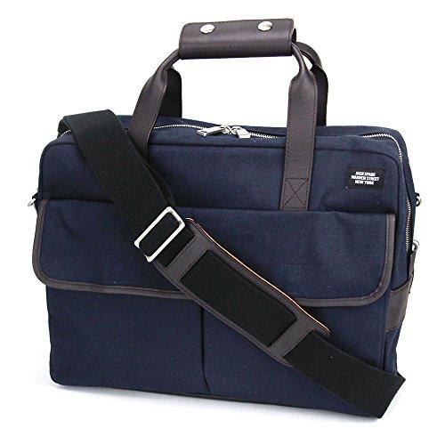 (ジャックスペード) JACK SPADE Field Canvas Briefcase NYRU1515 400 ブリーフケース メンズ Navy ブルー 2WAY ショルダー [並行輸入品]