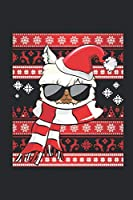 """Ugly Christmas Sweater - Llama: Graph Ruled Notebook / Journal (6"""" X 9"""" - 5 X 5 Graph Ruled) – Christmas Gift for Kids, Teens, Mom And Dad"""