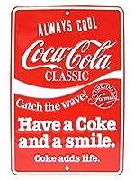 コカコーラ ブリキ看板 クラシック CC-SP3 ストアサイン ティンサイン Coca-Cola メタルサイン 看板 アメカジ ブランド ドリンク アメリカンダイナー 西海岸風 インテリア アメリカン雑貨