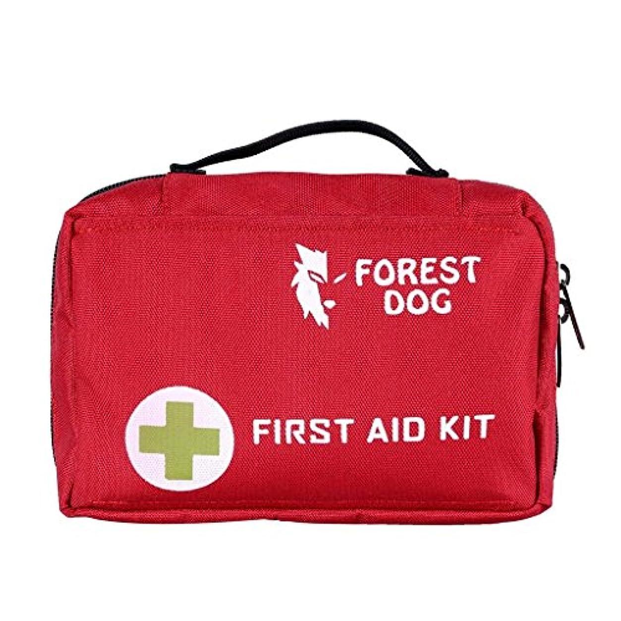 正統派どんよりした検出器携帯 収納便利 応急処置セット 屋外生存 旅行 登山 ハイキング 救急セット バッグ 複数なポケット 手提げ 腰掛け