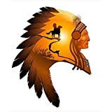 Wallmonkeys Wall Decals Apache Chief Peel and Stick Wall Decal 18 x 16 [並行輸入品]