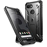 Google Pixel 3 XL Rugged Case, Poetic Revolution [360 Degree Protection]Full-Body Rugged Heavy Duty Case with [Built-in-Screen Protector] for Google Pixel 3 XL Black