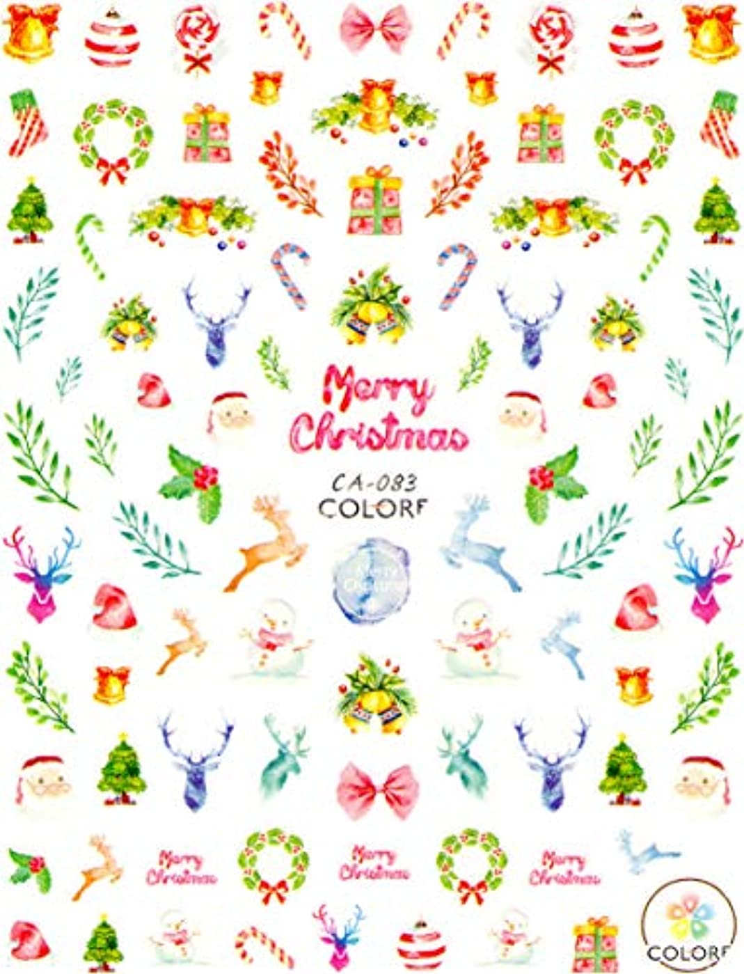 枠傾向魅惑的な極薄 ネイルシール クリスマス スノー サンタ デコやレジン、アルバム制作などに (02-C50)