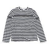 (コムデギャルソン シャツ) COMME des GARCONS SHIRT ボーダー柄切替ドッキング 長袖Tシャツ