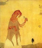 手書き-キャンバスの油絵 - 美術大学の先生直筆 - Hesitation 抽象表現主義 AEM1 Paul Klee 絵画 洋画 複製画 -サイズ02