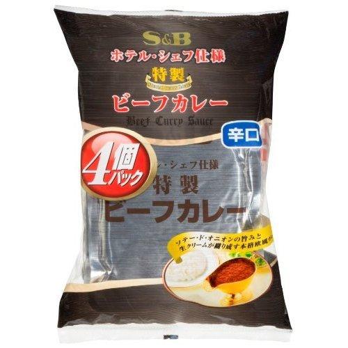 S&B 特製ビーフカレー辛口 4食