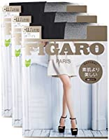 [アツギ] FIGARO (フィガロ) 伝線しにくい ストッキング 3足組 個装 FGR1103P レディース ブラック 日本 L~LL (日本サイズ2L相当) (日本サイズ2L相当)
