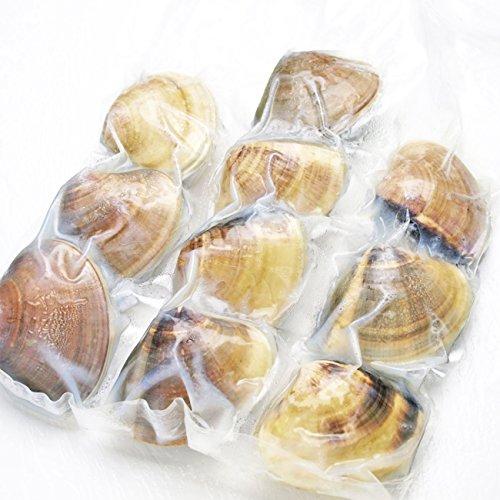 千葉県九十九里産 冷凍ボイルハマグリ 1キロ 1粒あたり90-110グラム 国産 ハマグリ