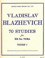 ブラゼヴィッチ: チューバのための70の練習曲集 第1巻/ロバート・キング社/チューバ教本・練習曲