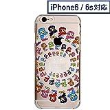 スワローズ iPhone6・6sクリアケース(カラフルつば九郎)