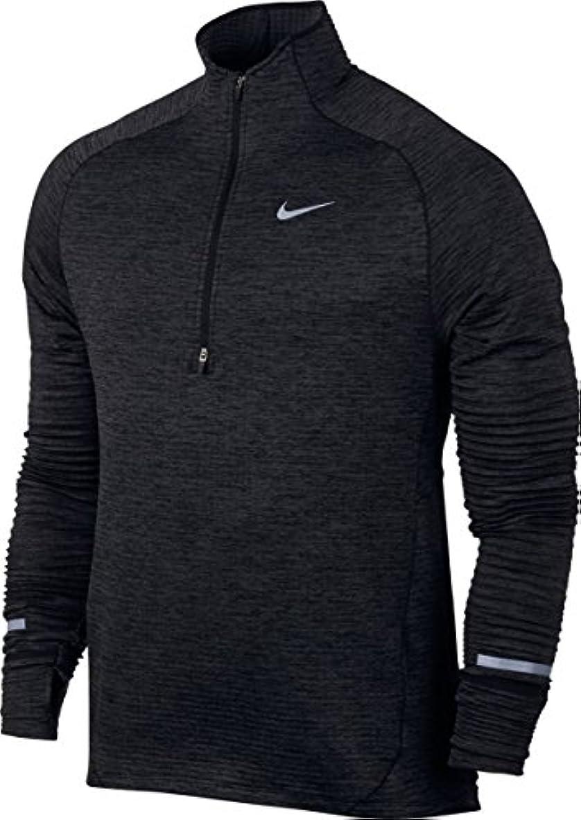 ブレンドドラフト寛解Nikeメンズ球要素Long Sleeve Running Top – ブラック/Heather/Anthracite
